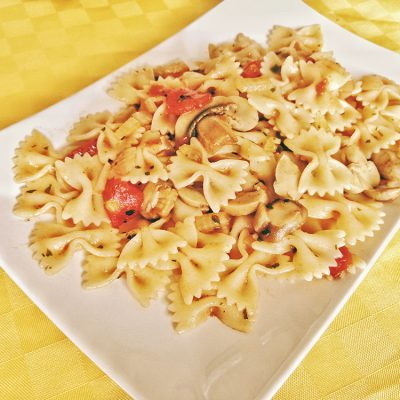 Pasta alla boscaiola light